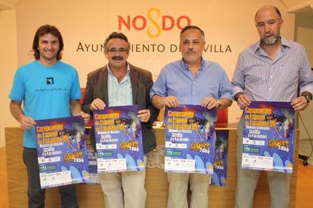 José Manuel García, delegado de Juventud y Deportes presentó ayer el campeonato