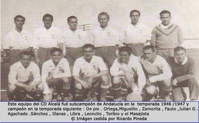 La plantilla del CD Alcalá en la temporada 1946/1947