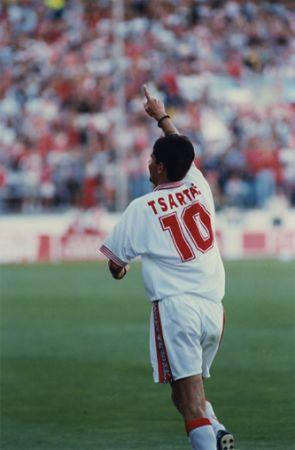 Tsartas era un jugador maniático, pero fue muy querido en el Pizjuán