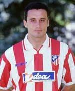 Hibic durante su estancia en el Atlético