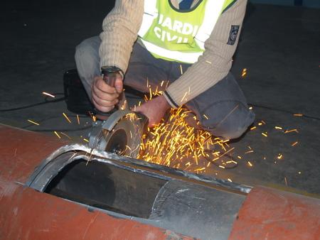 La tubería con 220 kilos de cocaína entró por el puerto de Bilbao