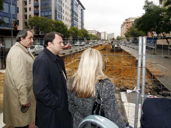 Francisco Fernández ha acompañado esta mañana a Sánchez Monteseirín a las obras de ampliación del metrocentro a San Bernardo/SA