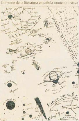 El universo de Giménez Caballero ilustra el cartel de la exposición