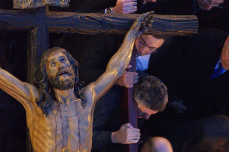 Vista cenital del Cachorro durante el Via Crucis/ Francisco Javier Comas