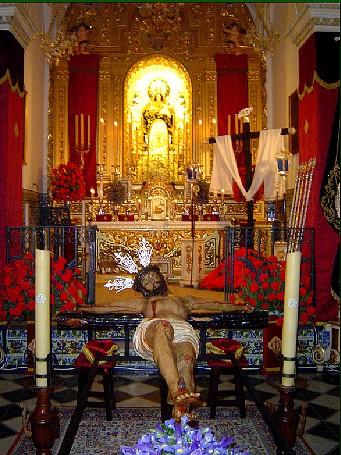 El Cristo de la Vera Cruz es una talla de las denominadas de 'papelón' que los expertos fechan en los últimos años del S. XVII o principios del XVII / Hdad. de Consolación