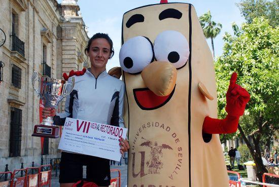 La ganadora Almudena Rodríguez junto a Sadusito / SA