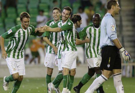 Imagen del partido de la primera vuelta en la que el Betis goleó al Villarreal B (4-0)/rbb