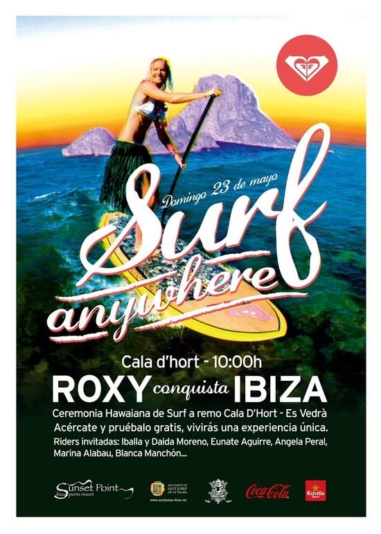 La windsurfista Blanca Manchón se toma este fin de semana un descanso en la Copa del Mundo para participar en el Roxy Surf Anywhere Ibiza 2010.
