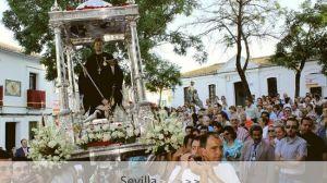 San Benito prescinde hoy del templete de plata en una procesión que correrá a cargo de la Hermandad de la Virgen de Escardiel / Juan C. Romero