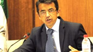 Pablo Carrasco durante su comparecencia en el Parlamento de Andalucía