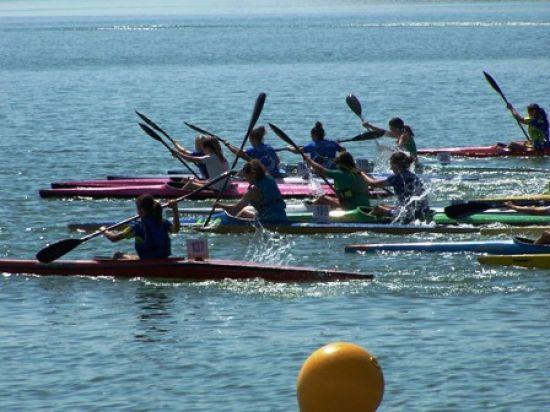 Piragüistas del CN Sevilla en la prueba del Lago de Bornos/CNSevilla