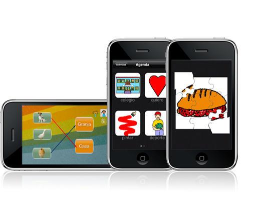 La aplicación permite la enseñanza a través de imágenes y sonidos