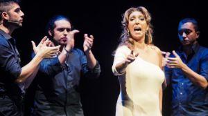 Esperanza Fernández durante el espectáculo/Luis Castilla, Bienal de Flamenco