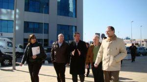 Juan Espadas esta mañana, en su visita al Parque Empresarial Torneo/PSOE