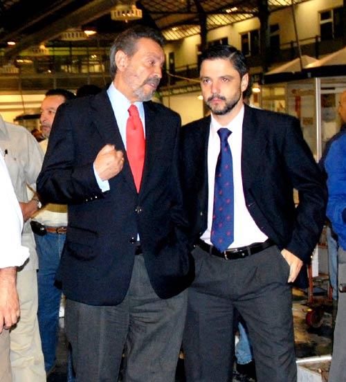 Mellet (derecha) solicitó al SAE una subvención para crear una escuela de hostelería de 'La Raza' en suelos de Mercasevilla