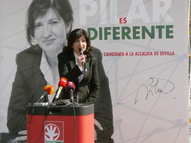 Pilar González esta mañana en Sevilla