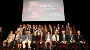 Foto de familia de los premiados en la última edición de los 'Torre de los perdigones'