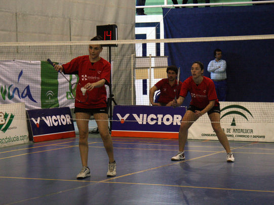 partido disputado en huelva entre el Soderinsa Rinconada y La Orden/Badminton Rinconada