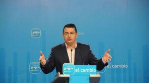 Antonio Sanz durante una rueda de prensa en la sede del PP Andaluz /Archivo