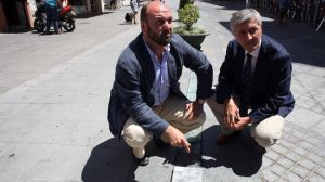 Curro Pérez y Maximiliano Vílchez en el carril bici de San Jacinto
