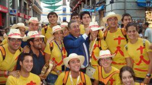 Zoido en Madrid con jóvenes de la JMJ