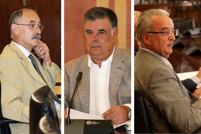 Justo Mañas, José Antonio Viera y Antonio Fernández comparecieron hoy ante la comisión parlamentaria de investigación de los ERE