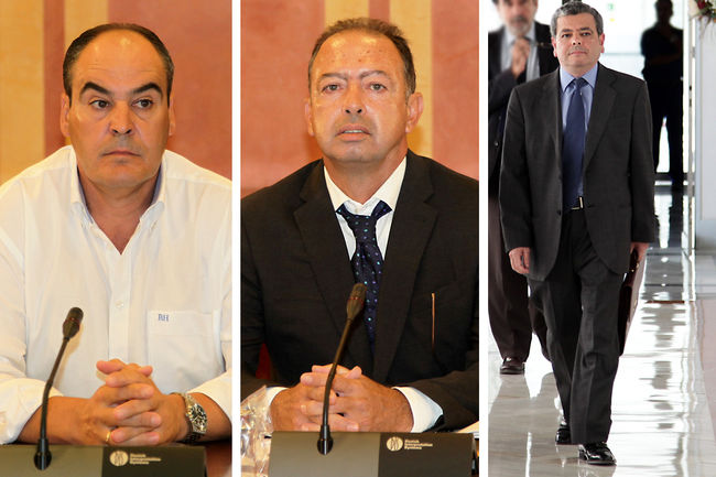 Juan Márquez, Daniel Rivero y Agustín Barberá han comparecido hoy pero no han respondido a las preguntas de los diputados
