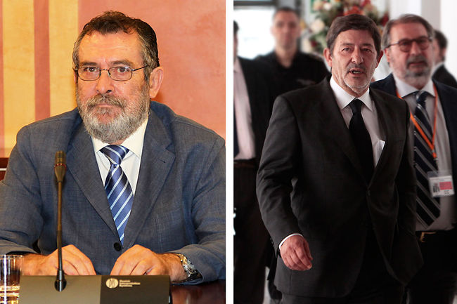 A la izquierda, Antonio Rivas, ex delegado de empleo en Sevilla. A la derecha, Francisco Javier Guerrero, ex director general de la Consejería de Empleo de la Junta