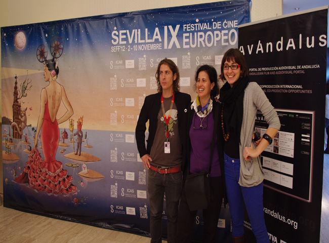 José Naranjo, May Silva y María Royo en la presentación de los proyectos de la Fundación Audiovisual de Andalucía/Ángel Espínola