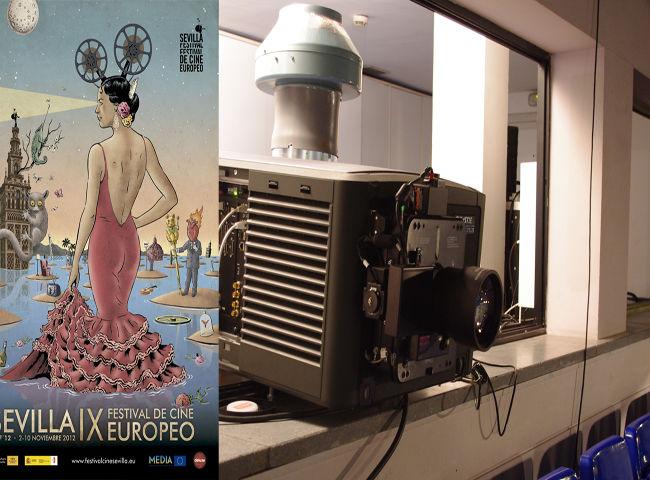 El proyector del Teatro Alameda se ha instalado sólo para el SEFF'12/Ángel Espínola