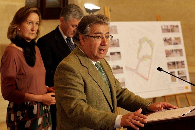 El primer edil, Juan Ignacio Zoido, durante la presentación del proyecto de reurbanización del Casino de la Exposición / Sevilla Actualidad