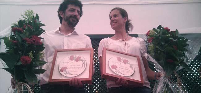 Alberto Rodríguez y Marina Alabau con sus distinciones./Christopher Rivas