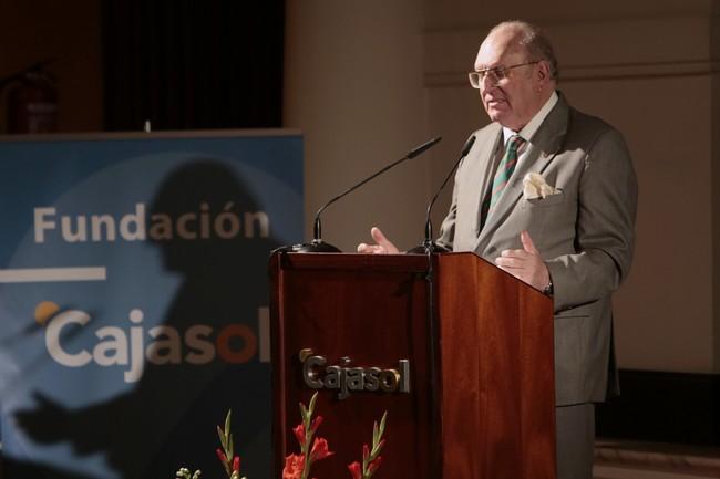 El militar y empresario ha leído el Pregón en la Fundación Cajasol./ Ibersponsor