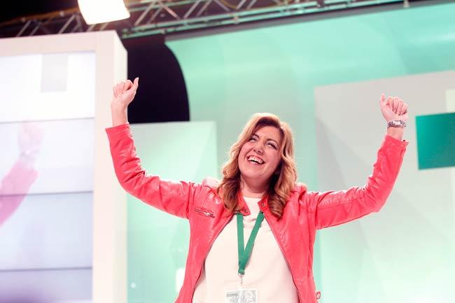 Díaz tras ser elegida secretaria general/SA