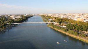Vista aérea del tramo de río sobre el que se ubicaría el polémico puente/ SA