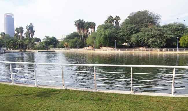 El lago del Jardín Americano y la cascada del mismo han recuperado el agua tras años de abandono/ SOS Jardín Americano