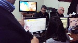 Policía Local y técnicos municipales coordinan una incidencia en el CECOP/Daniel Rosado