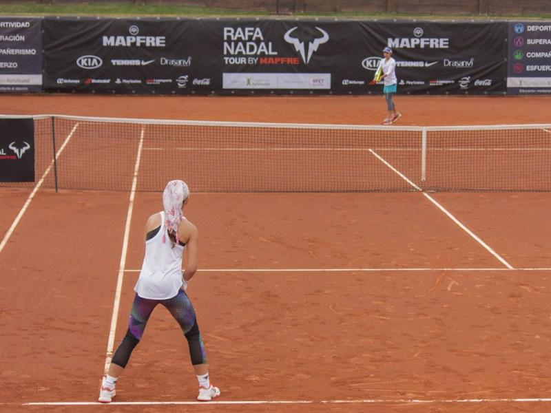 Partido de tenis del torneo