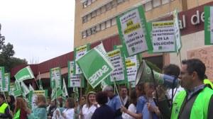 Concentración del Satse ante el Hospital de la Mujer/ SA