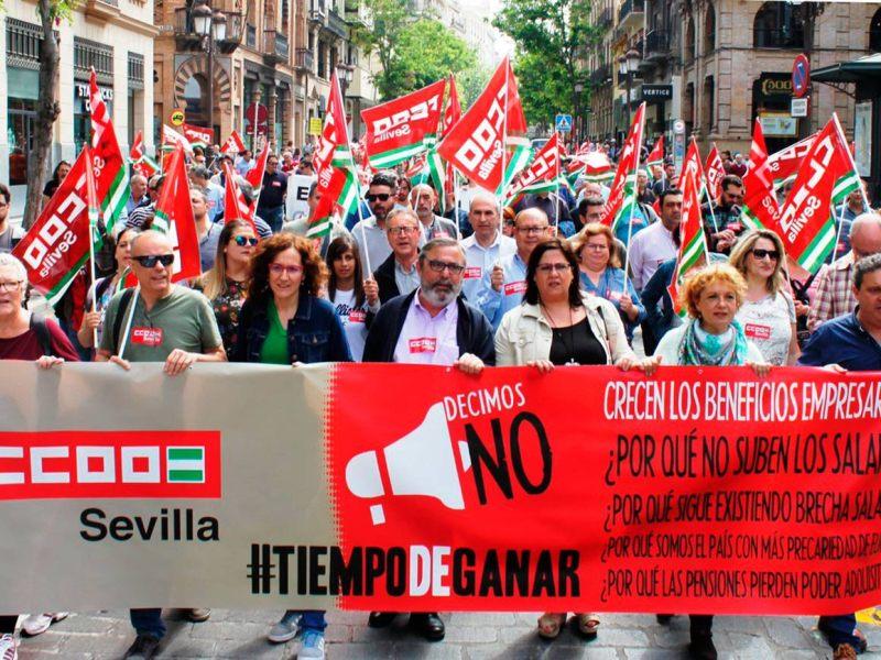 Manifestación sindicatos /CCOO