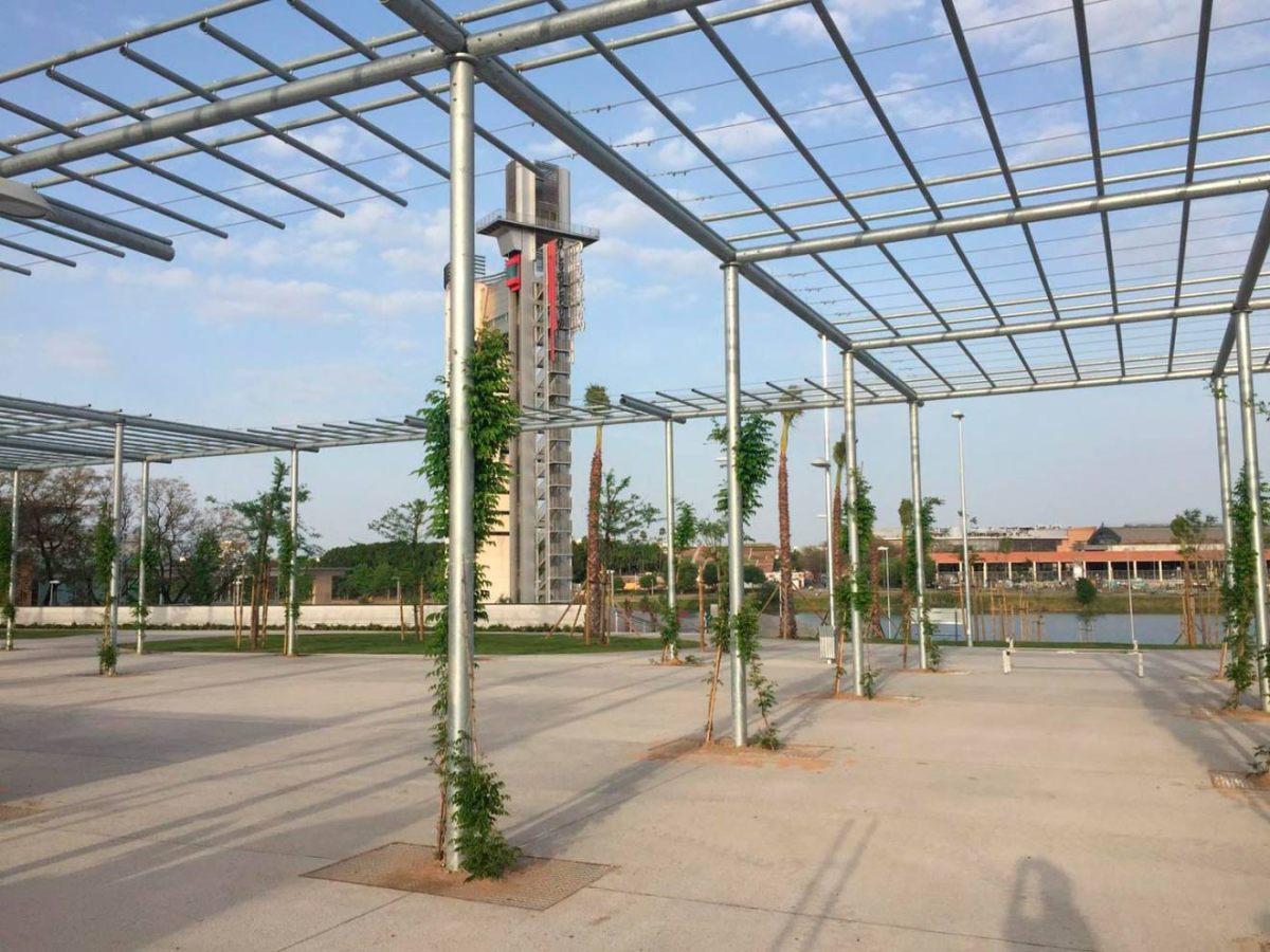 Parque de Magallanes con las obras recién terminadas /@adrianyaneces