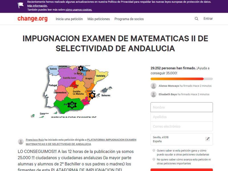 Petición de Change.org /SA