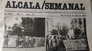 Portada periódico Alcalá /Lucre Romero