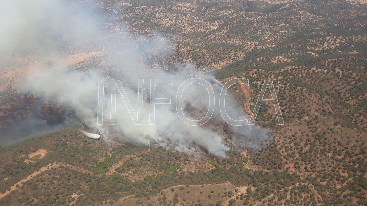 Incendio en un paraje del Castillo de las Guardas /SA