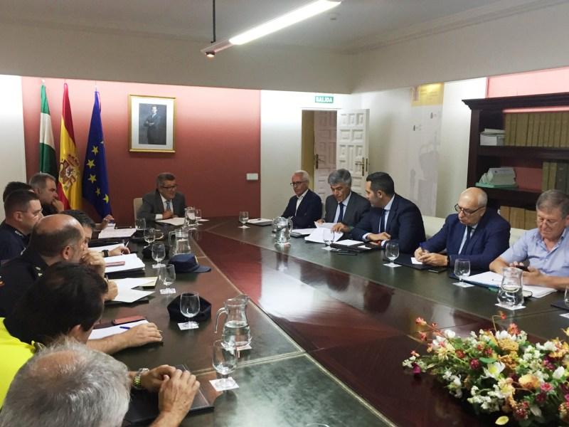 Reunión para el dispositivo del derbi /Subdelegación Gobierno