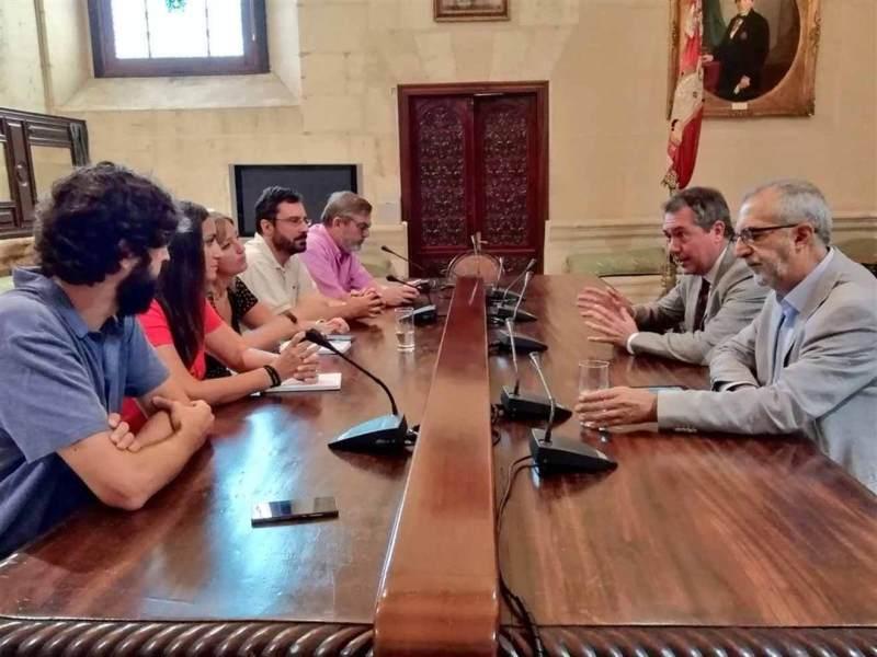 Reunión de Espadas con el comité de empresa de El Correo /CCOO