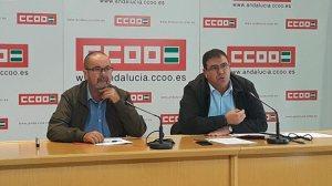 Representantes durante el comunicado / CCOO