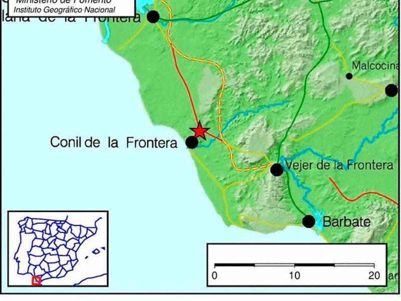 Localización del terremoto /ING