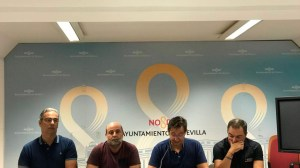 Rueda de prensa de la plantilla municipal /SA