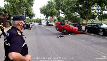 Imagen del accidente en la Avenida de Holanda / ES